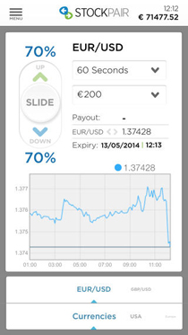 StockPair App Screenshot 1